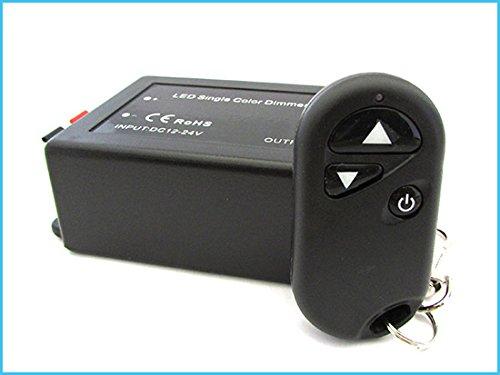LED dimmer PWM met RF afstandsbediening met karabijnhaak, programmeerbaar 12 V 24 V 8 A