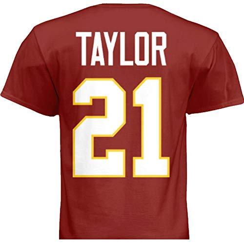 HOFSM.COM Hall of Fame Sports Memorabilia NWT New Taylor #21 Washington Red T-Shirt Jersey No Logos Men's (Medium)