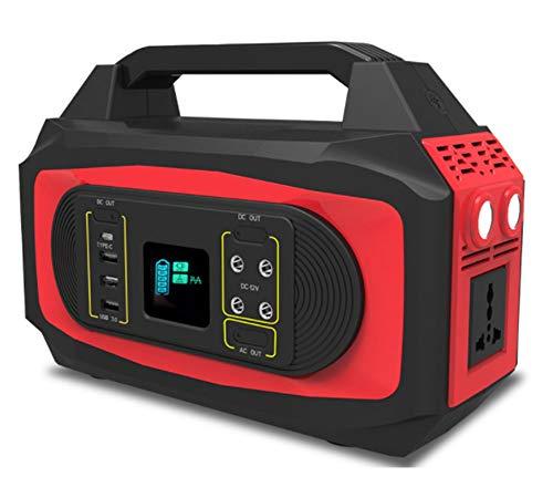 MLHXHX Central eléctrica portátil, Fuente de alimentación móvil de Emergencia portátil Multifuncional de Almacenamiento de energía de 500w con Pantalla