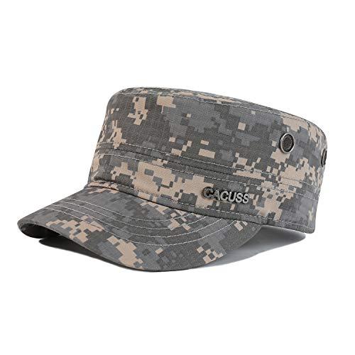 CACUSS Uomo Cappello Trucker Cappello da Camionista Militare Cadet cap Uomini Traspirante Cotone Cappello da Baseball Regolabile per Ambientazione Esterna, Sport, Viaggi