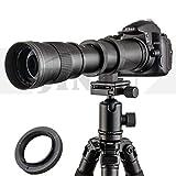 JINTU 420-800mm f/8.3 Telephoto Zoom HD Lens for Nikon SLR Digital Camera Lenses D5600 D5500 D5300 D5200 D5100 D3500 D3400 D3300 D3100 D3200 D7500 D7200 D7000 D7100 DF D750 D90 D850 + Bag + Metal Body