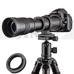 ★ JINTU Super zoom 420-800mm focal length. Manual Focus lens , only work on M mode. 4 Elements in 2 groups, Japan Design. ★ Work with for Any NIKON SLR Digital Cameras. such as Nikon D850, D810, D800, D750, D700, D610, D300, D3100, D3200, D3300, D340...