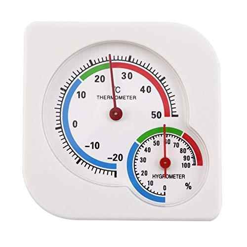 Klassisches Homeuse 2 in 1 Mini-Präzisions-Hygrometer Feuchtigkeit Thermometer Thermometer Thermometer Weiß mechanisch