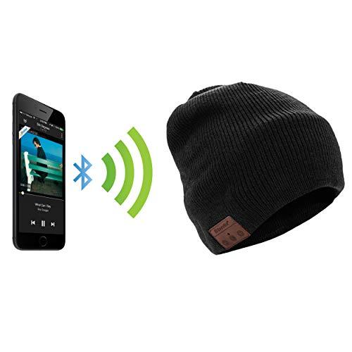 soundbot ¨ SB210HD estéreo Bluetooth 4.1inalámbrico Smart Beanie sombrero de altavoz manos libres de auriculares de móvil Musical Knit Cap, micrófono integrado
