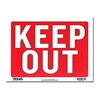 サインプレート Lサイズ 立入禁止【KEEP OUT】Sign Plate 看板 ガレージ インテリア アメリカン雑貨