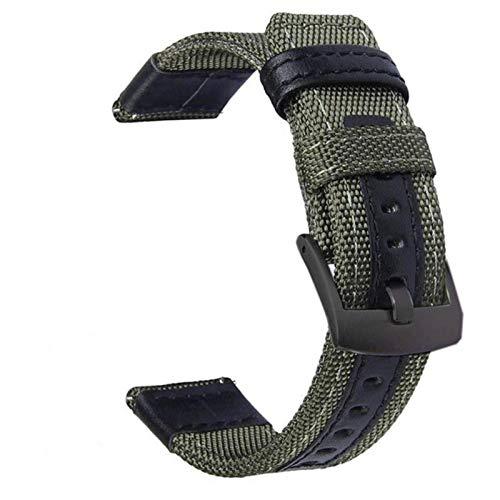 Correa de reloj de nailon 20mm Universal para reloj Huawei 2 correas de reloj Accesorios de pulsera Correa de cuero genuino 22mm