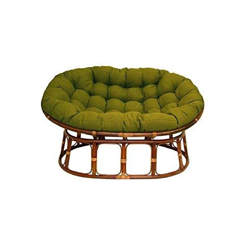 Double Papasan Chair with Fabric Cushion