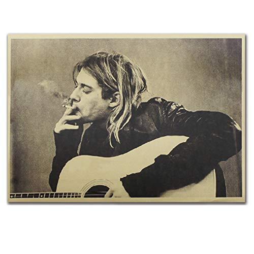 ALTcompluser Retro Motiv Poster Wanddekoration Vintage Wandbild Kleinformat Plakat für Wandgestaltung(Kurt Cobain)
