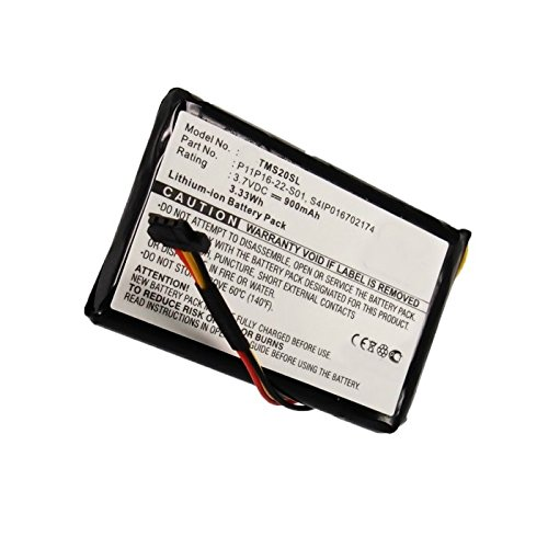 subtel® Batería premium compatible con TomTom 4ET0.002.07, Start XL Central Europe Traffic, Start XL Europe Traffic (900mAh) P11P16-22-S01,S4IP016702174 bateria de repuesto, pila reemplazo, sustitución