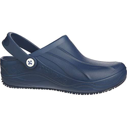 Safety Jogger, Clogs für Damen, leichter Arbeitsschuh für Herren, ideal für Krankenhaus, Küche oder Garten, Größe 42 (EU), Oxypas Smooth, Marineblau