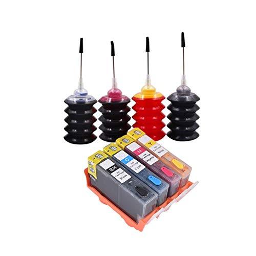 Wschen Compatible for 364 XL Hp364 Cartucho de Tinta de Recarga de Tinta Kit for 5511 5512 5514 5510 5515 5520 5522 5524 6510