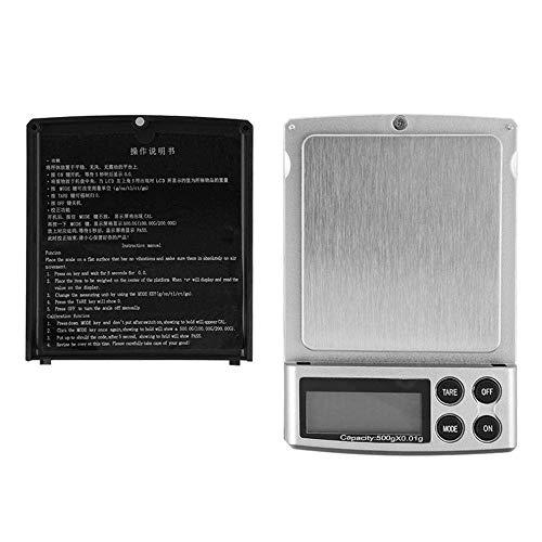 Digitale Küchenwaage 500Gx0.01G Präzisionswaage Schmuck Digitale Elektronisch tragbar Waage Präzisionswaage Diamantwaage Tara-Funktion