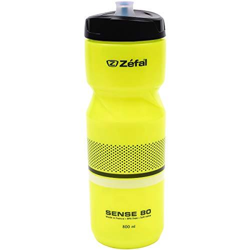 Zéfal Unisex– Erwachsene Sense M80 Trinkflasche, neon gelb/sw/weip, 800ml