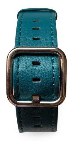 Pulseira Couro Fecho Clássico, compatível com Apple Watch (Turquesa, 38mm)