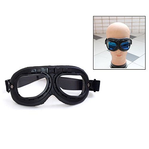 Itian Motorradbrille Schutzbrille,Pilot Biker Cruiser Pilot Fliegerbrille Motocross Cruisers Sun UV Wind Auge schützen Helm Brille(Schwarz)