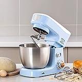 Küchenmaschine,Teigmaschine,600W 6-Gang,Knetmaschine mit 3.5L Edelstahl-Rühlschüssel, Lebensmittelmixer, Brotmischer Maschine,Blau