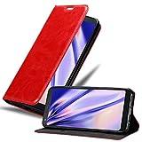 Cadorabo Custodia Libro per LG Q7+ (Plus-Version) in Rosso Mela - con Vani di Carte, Funzione Stand e Chiusura Magnetica - Portafoglio Cover Case Wallet Book Etui Protezione