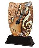 Trophy Monster Placa grabada para guitarra acústica Iceberg, para clubes y escuelas, fabricada en acrílico impreso (140 mm)