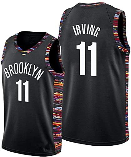 ALXLX # 11 Jersey de Baloncesto - Hombres Brooklyn Nets Swingman Chaleco Chaleco Transpirable Chaleco Bordado de Verano, Ropa de Fiesta Hip Hop, 5 - L