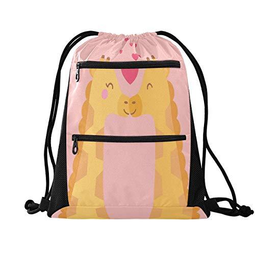 N / A Mochila Deportes Gimnasia Bolsa Pack - Bolsa para el Transporte de Animales de San Valentín con Cremallera Bolsa de la Mochila del Bolso del Gimnasio Sports Pack para excursión qu.