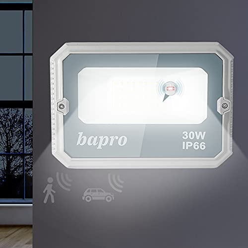 Focos Led Exterior Con Sensor Blanco Marca bapro