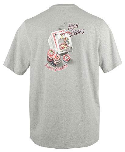 Tommy Bahama High Steaks Men's T-Shirt (High Steaks Grey Heather, Medium)