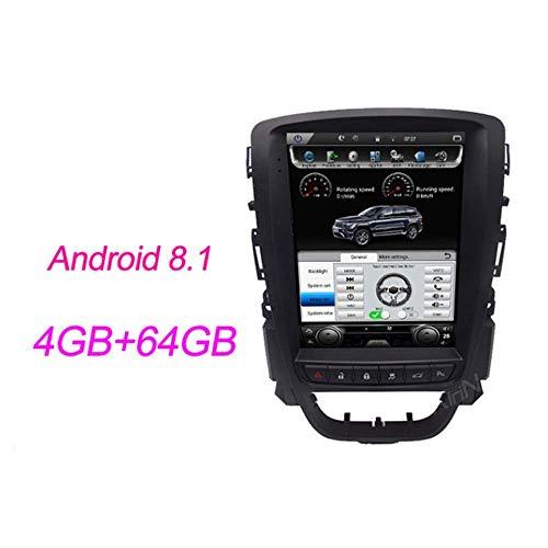SADGE Radio estéreo de Coches Reproductor de Audio - Aplicable para Opel Astra J Buick 2009-2015, Auto Multimedia Navegador GPS Autoradio Navi WiFi Bluetooth Android 10.4- Pulgadas FM