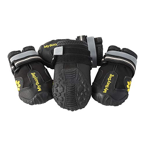 My Busy Dog Water Resistant Dog Shoes with Two Reflective...