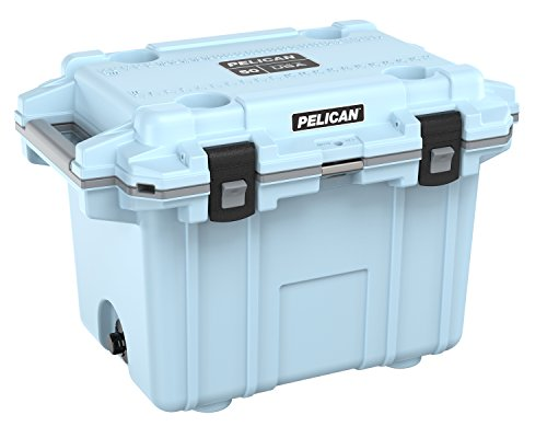 Pelican Elite 50 Quart Cooler Light Blue
