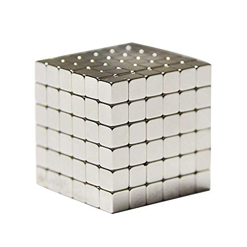 216 5mm Creative Creativity Big Cube Toy Building Blocks and Stress Relief Toys Cube(Cube—Silver
