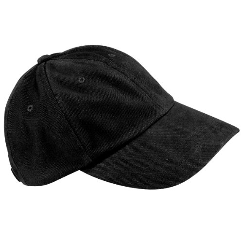 Beechfield Low profile heavy brushed cotton cap Black