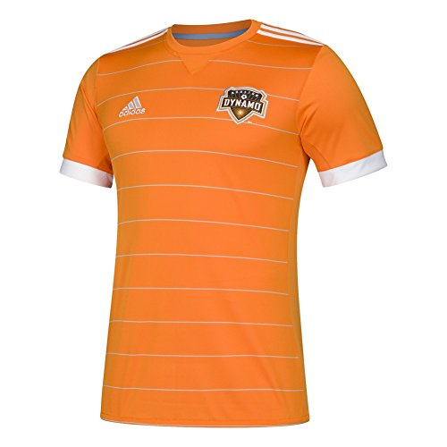 adidas MLS Houston Dynamo 7417AS1DFQAHDY Men's Replica Jersey, XX-Large, Bright Orange