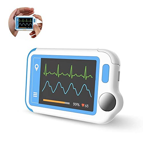 EKG-Gerät, Tracker für Herzgesundheit zur Erkennung von Vorhofflimmern in Plam, EKG-Monitor mit EKG-Rhythmen mit PC-Software und App
