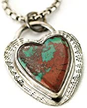 Sonoran Sunset Heart Necklace - Sonoran Sunrise Sterling Pendant