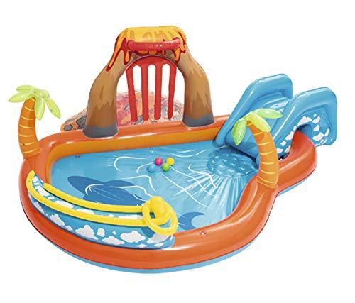 Centro De Juegos Inflable para Piscina para Niños,con Tobogán y Rociador 104'x 104' X 41'Juguetes De Fiesta De Agua Al Aire Libre De Verano para Jardín y Patio Trasero