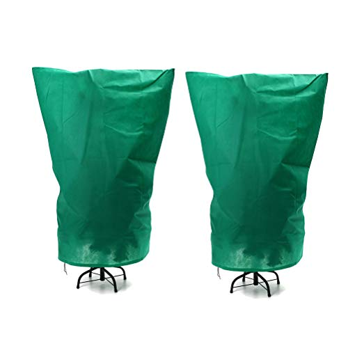 Kaycle 2Pcs Plant Protection Cover Winter Cold Protection Bag Tree Cover Drawstring Plant Bag