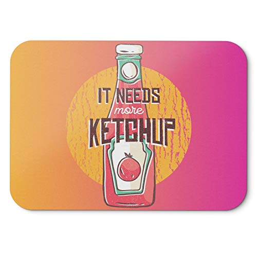 BLAK TEE More Tomatoes and More Ketchup Mouse Pad 18 x 22 cm in 3 Colours Pink Yellow