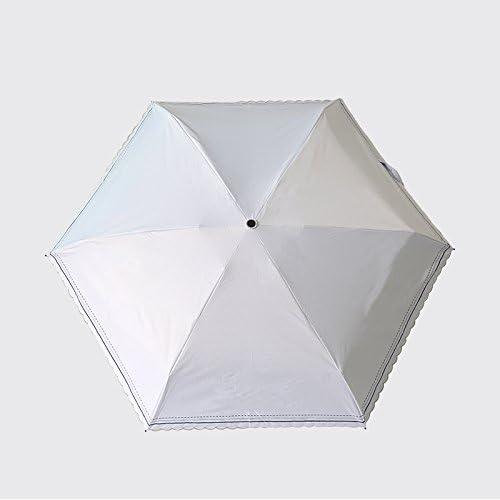 YFF@ILU Le cadeau d'amoureux de cadeau d'amoureux de deux fois l'aide de commerce parapluie femme hommeche bois de caoutchouc noir UV solaires parasols parasols ,2