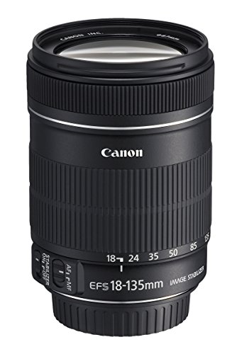 Canon EF-S 18-135mm f/3.5-5.6 IS - Objetivo para Canon (Distancia Focal 18-135mm, Apertura f/3.5-22, Zoom óptico 7.5X,estabilizador, diámetro: 75.4mm) Negro