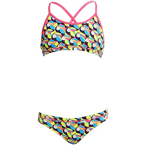 Funkita Toucan Do It Bikini voor meisjes, chloorbestendig en UV-bescherming 50+