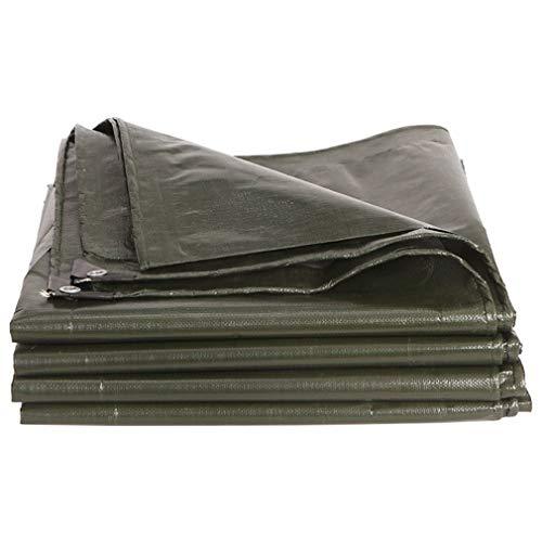 HCYTPL afdekzeil, Heavy Duty Waterpoof Abri Tarp dekzeil PE-bladen, plantaardige regenbescherming buitenshuis