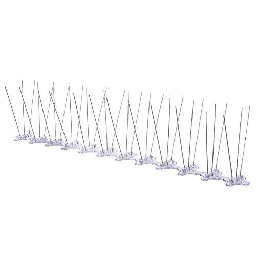 SH Vogel Spikes voor Duiven Kleine Vogels, 8 Voeten Anti Vogelspikes RVS Vogel Deterrent Spikes, Vogel Deterrent Hek Spikes voor Duiven, Mussen
