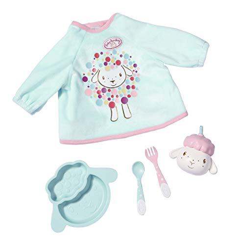 Baby Annabell Lunch Time Spiel Set für 43cm Puppe - Leicht für Kleine Hände, Kreatives Spiel fördert Empathie & Soziale Fähigkeiten, für Kleinkinder ab 3 Jahren - Inklusive Lätzchen & mehr