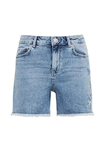 HALLHUBER Bestickte Jeansshorts aus Candiani Denim körpernah geschnitten Light Blue Denim, 32