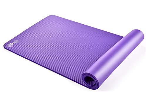 Happy Time Stuoia di Yoga, stuoia di Gomma Antiscivolo dello Sport Opaco, Pacchetto della Cinghia Tre-Parte del Vestito, 185x80cm x10mm,a