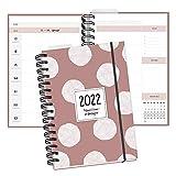 Familienkalender 2022 mit 5 Spalten in DIN A5 I Familienplaner Buchkalender I Planer Kalender, mit Ferienterminen, Stundenplan und vielen weiteren nützlichen Extras