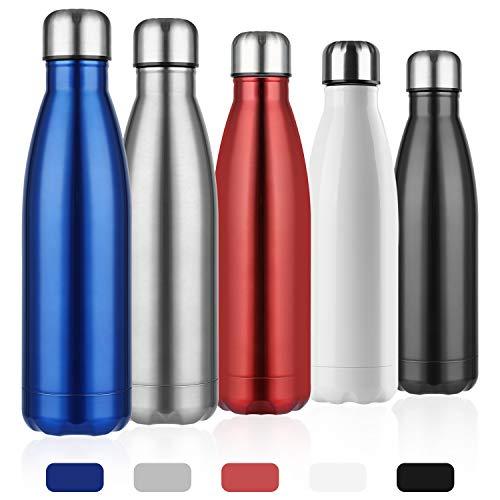 Nasharia Vacuüm geïsoleerde roestvrij stalen drinkfles, 500/750 ml, BPA-vrij, dubbelwandige thermosfles voor sport, outdoor, camping, bergbeklimmen, reizen, auto, kantoor, gymzaal, school, kleuterschool enz.