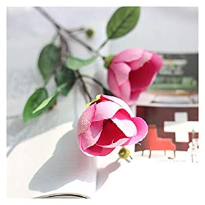 2 Flower Heads Magnolia Flower Furnishing Decoration Simulation Flower Single Branch Yulan Artificial Silk Flower Wedding