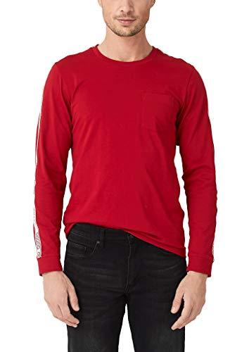 s.Oliver Herren 13.909.31.6661 Langarmshirt, Rot (Uniform Red 3660), Large (Herstellergröße: L)