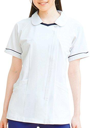 [フォーク] 白衣 チュニック ナース医療 2013CR レディース ホワイト×ネイビー 日本 LL (日本サイズXL相当)
